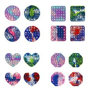 PUSH POP FIDGEL Игрушка Детская семейный вечеринка Радуга Пузырьки Sensory Autism Специальные нужды Стресс Редивер это Сжатие сенсорных красочных игрушек детей