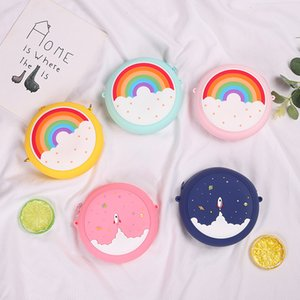 Cute Donutt Coin Bag Purse Keychain Children Adult Silicone Toy Pressure Relief Board Controller Toys Creativity Popper Bags W233