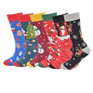 Autumn winter 2021 Christmas fashion men's and women's cotton stockings cartoon old man Snowman elk large socks