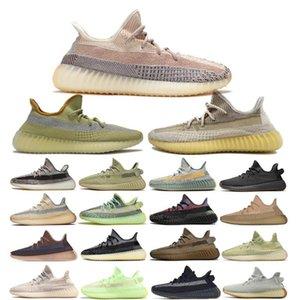 scarpe casual Olimpiadi Asriel Abez Cinder Terra Kanye West riflettenti Marsh salvia del deserto Fanale posteriore Lino ZYON Lino Uomo Scarpe da ginnastica