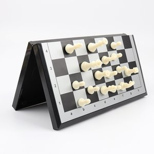 5215# successful chess black and white pieces magnet series games folding chessboard outdoor leisure