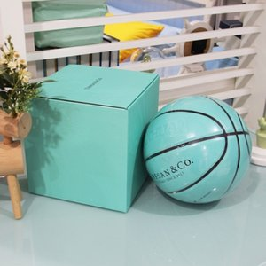 TIFFANY BLUE basketball gift box outdoor cement floor 7 lettering No. 5 children's primary and secondary school students