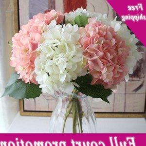 15 Colors Artificial Flowers Hydrangea Bouquet for Home Flower Arrangements Wedding Party Decoration Supplies CCA11677 20pcs
