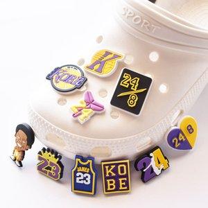 Sport Croc Charms Accessori Shoe Accessori Zoccoli Decorazioni PVC Buckcle Buttons Regalo di compleanno all'ingrosso