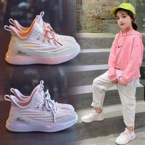 Kids Designer Sneakers Hiphop Brand Kanye West Shoes for Boys Girls Teens Active Breathable Running Shoes Boys Fashion Eur 26-37 for Kids