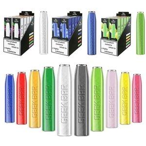 Original GeekVape GEEK BAR Disposable E cigarettes 575 Puffs Vape Pen 2.4ml Prefilled pods Cartridge 500mAh Battery Starter Kit