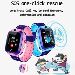 Q12 Children Smart Watch SOS wristbands Phone Smartwatch Kids With Sim Card Photo Waterproof IP67 Gift For IOS Android Call Function