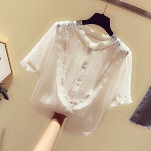 Blusas mujer de moda 2020 New plus size Chiffon Blouse Women Slim Shirt Tops Female Vintage Chiffon Blouse Shirts Women Clothing