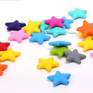 Chenkai Silicone Star Chewing Teether Beads DIY Mom wearing Baby Shower Pacifier Sensory Jewelry Toy 555 Y2