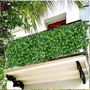 Artificial Leaf Hedge Panel Privacy Screen Garden Plant Fence Background Wall Decoration Home Decor Greenery Decorative Flowers & Wreaths