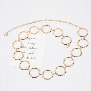 Chain Lady Waist Love Leaf Big Circle Decoration Thin Korean Version with Dress Fashion Small Belt Skirt Y8B0