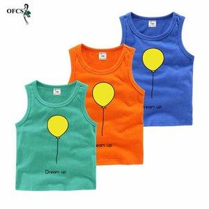 Vest Fashion Baby Boys Girls Sleeveless T_shirt Summer Cotton Children Shirts Toddler Kids Clothes Teenager Tops 2-12 Y