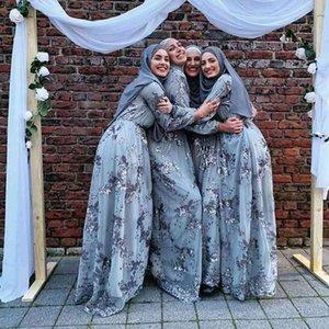 Plus Size Women Muslim Turkish Arabic Sequin Abaya Evening Hijab Dress Kaftan Caftan Ramadan Islamic Clothing Dresses Vestidos