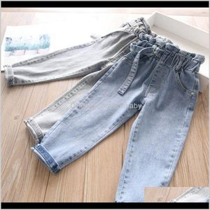 Baby, & Maternity Drop Delivery 2021 Spring 2Color Denim Girls Jeans Kids Thouser Soft Harem Pants Baby Clothes Children Clothing Wear 2-7Y B