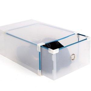 Home Storage Boxes Bins Xionghui Metal binding men's thickened drawer type transparent shoe household