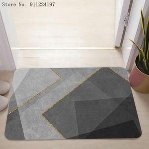 Carpets Geometric Printed Doormat Living Rooms Anti-slip Carpet Absorbent Shower Bath Mat Bedroom Kitchen Rug Hallway Welcome Mats