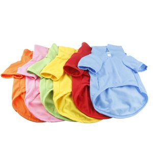 Pet T Shirts Summer Solid Dog Clothes Fashion Top Shirts Vest Polo Necks Dog Clothes Puppy Small Dog Clothes Cheap Pet Apparel DBC BH4508