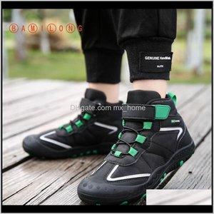 Bamilong Kids Fashion Girls Walking Soft Bottom Sports Running Shoes Casual Hightop Boys Basketball Sneakers B292 201120 Ltei R02Vp