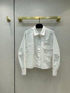Milan Runway Shirts 2021 Lantern Sleeve Lapel Neck Print Designer Blouses Brand Same Style Women's 0526-26