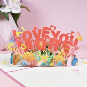 Konfeksiyon mektubu sevgililer günü evlilik yıldönümü tebrik kartları zarf romantik yaratıcı 3d çiftler şenlikli malzemeleri
