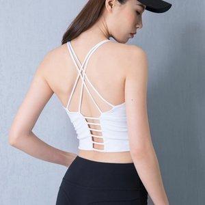 Sports Bra Yoga Underwear S-xl 2020 Solid Color Thin Shoulder Straps Cross Beautiful Back Sports Underwear Yoga Clothes Female sqcTZV