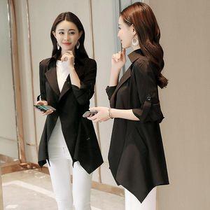 Women's Trench Coats Spring Summer Windbreaker Plus Size Black Coat Women Overcoat Womens Clothing Abrigo Mujer 2021 KJ369