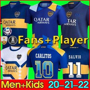 팬 선수 버전 20 21 Boca Juniors 축구 유니폼 MARADONA TEVEZ DE ROSSI 2020 2021 홈 어웨이 3rd 4th 태국 축구 셔츠