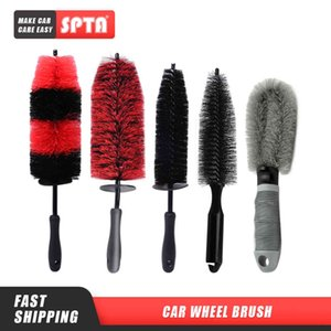 (Bulk Sale 2) SPTA Brush Beauty Accessories Auto Detailing Brushes for Car Wheel Hubs Tire Rims Cleaning