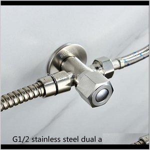 Vaes 304 Stainless Steel G1 2 Dual-Purpose Double Right Angle Vae Stem Adapter Balcony Garden Kitchen Bathroom Nozzle Mixing Dbw4J Beieb