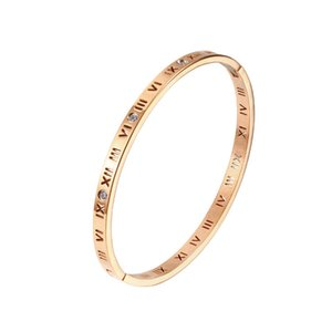 Roman numeral bracelet with rose gold clasp and diamond ring F1130