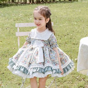 Vestidos de niñas Cekcya Verano Vestido floral español Niños Turquía Lolita Princesa Bola Vestidos para Baby Girls Fiesta de cumpleaños Vestidos