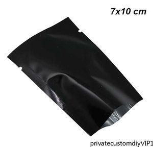 Sample 7x10cm Black Aluminum Foil Heat Sealing Bag Open Top Vacuum Package Packing Pouch Mylar Foil Bags Heat Sealable Pa