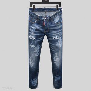 21ss Luxury mens denim jeans black ripped pants fashion skinny broken style bike motorcycle rock revival jean ggj