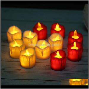 Candles Led Flameless Tea Light Pillar Tealight Battery Operate Candle Lamp Wedding Birthday Party Christmas Decoration Yl0236 Ma590 U8Hos