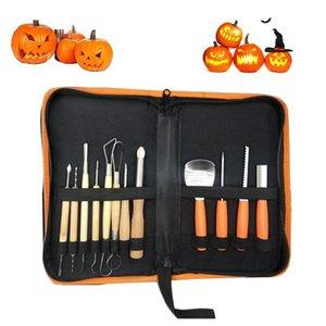 Craft Tools Halloween Pumpkin Carving Tools,Jack-O-Lanterns Professional Cutting Supplies Lengthening Thickening WithHandbag