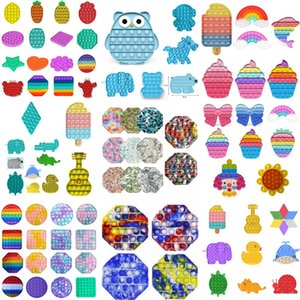 US Stock, 2021 Squeeze Toy Push Bubble Fidget Toys Party Favor Autism Special Needs Stress Reliever and Increase Focus