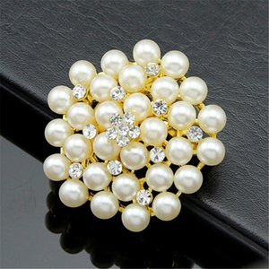 Diamond pearl Brooches Pins Corsages Scarf Clips silver gold lapel pins brooches Wedding jewelry