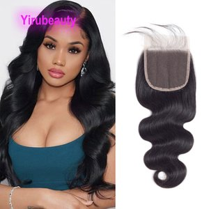 Indian 5 Pieces lot 5*5 Lace Closure Body Wave Silky Straight Wholesale 100% Human Hair Yirubeauty 12-24inch Natural Color