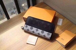 2021 패션 꽃 디자이너 지갑 Luxurys 남성 여성 가죽 가방 고품질 클래식 문자 키 동전 지갑 원래 상자 격자 무늬 카드 홀더 60017F