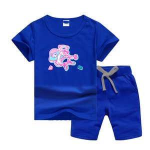 VS Brand Luxury Designer Baby Summers Clothing Sets Printing Logo Kids Boy Girl Short Sleeve T-shirts and Pants 2Pcs Suits Fashion T-shirt Tracksuits Outfits