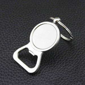 Beer Bottle Opener Key Rings DIY For 25mm Glass Cabochon Keyrings Engraving Gifts Zinc Alloy Kitchen Bar Tools Men Gifts GWE9856