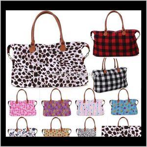 33 Style Buffalo Check Handbag Red Black White Plaid Bags Large Capacity Travel Tote With Pu Handle Storage Maternity Bag Wholesale G8 Ecbig
