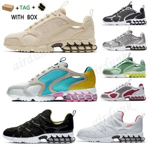 [With box]2021 Running Shoes mens womens Spiridon Caged 2 Pure Platinum Metallic Silver Triple White Black Grey outdoor trainers fashion sports sneakers