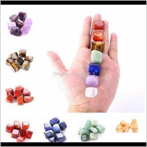 Arte y arte Artesanos Regalos Galards Drop Entrega 2021 Cristal Chakra Piedra 7 unids Set Natural Stones Palm Reiki Curación Cristales Gemstones Inicio