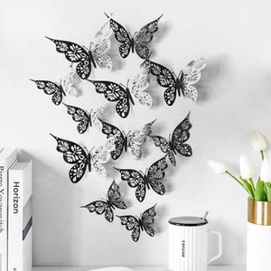 Wallpapers 3D Hollow Butterfly Wall Stickers Home Decor Cardboard Garden Decoration Ornament#50
