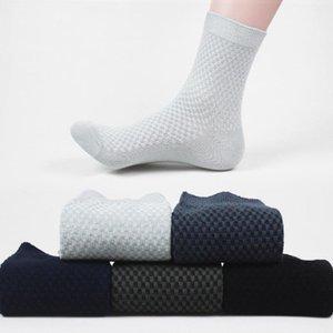 Erkek Çorap Erkekler Bambu Elyaf Erkek Nefes Sıkıştırma Uzun Iş Rahat Erkek Mürettebat Çorap Beyaz Siyah Gri Sox Soks