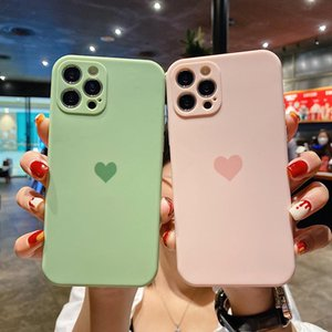 Soft TPU Love Heart Phone Cases For iPhone 12 11 Pro Max Xr Xs 7 8 Plus Shockproof Camera Lens Protection Back Cover