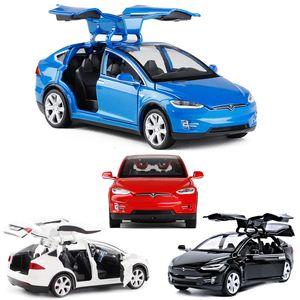 132 Tesla Model X high simulation alloy car model car children toys metal model car children toys collection