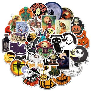 50 Halloween theme Christmas Skin Protectors Fright Night stickers personalized holiday decoration graffiti sticker Computer Accessories