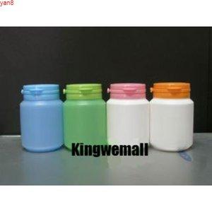 300pcs lot Capacity 100ml Plastic PE Bottle with Flip Cap for Capsule Powder Medicine Candies Food Packaginggood qualty